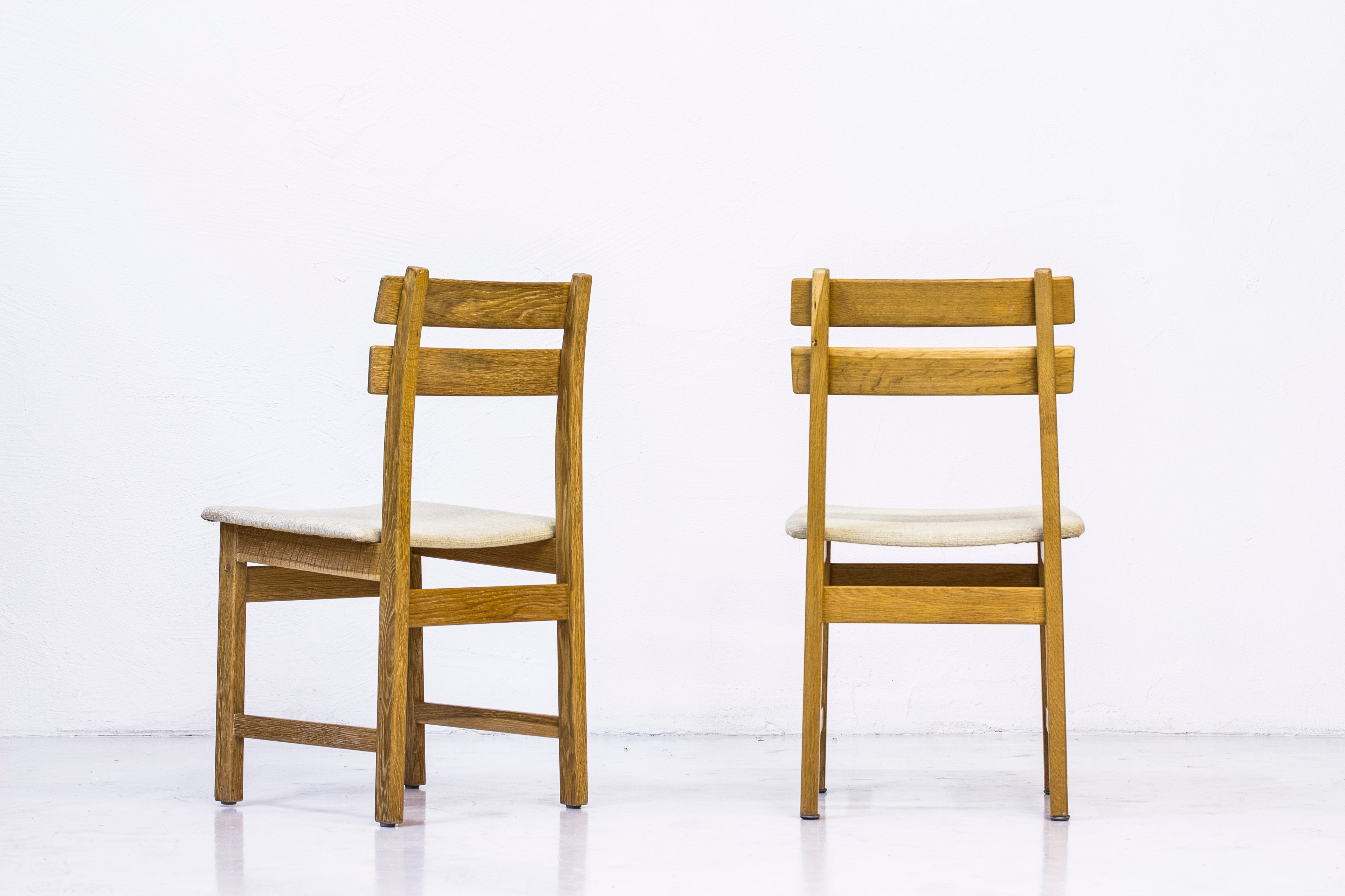 "1960s ""Singö"" oak chairs by Carl Gustaf Boulogner"