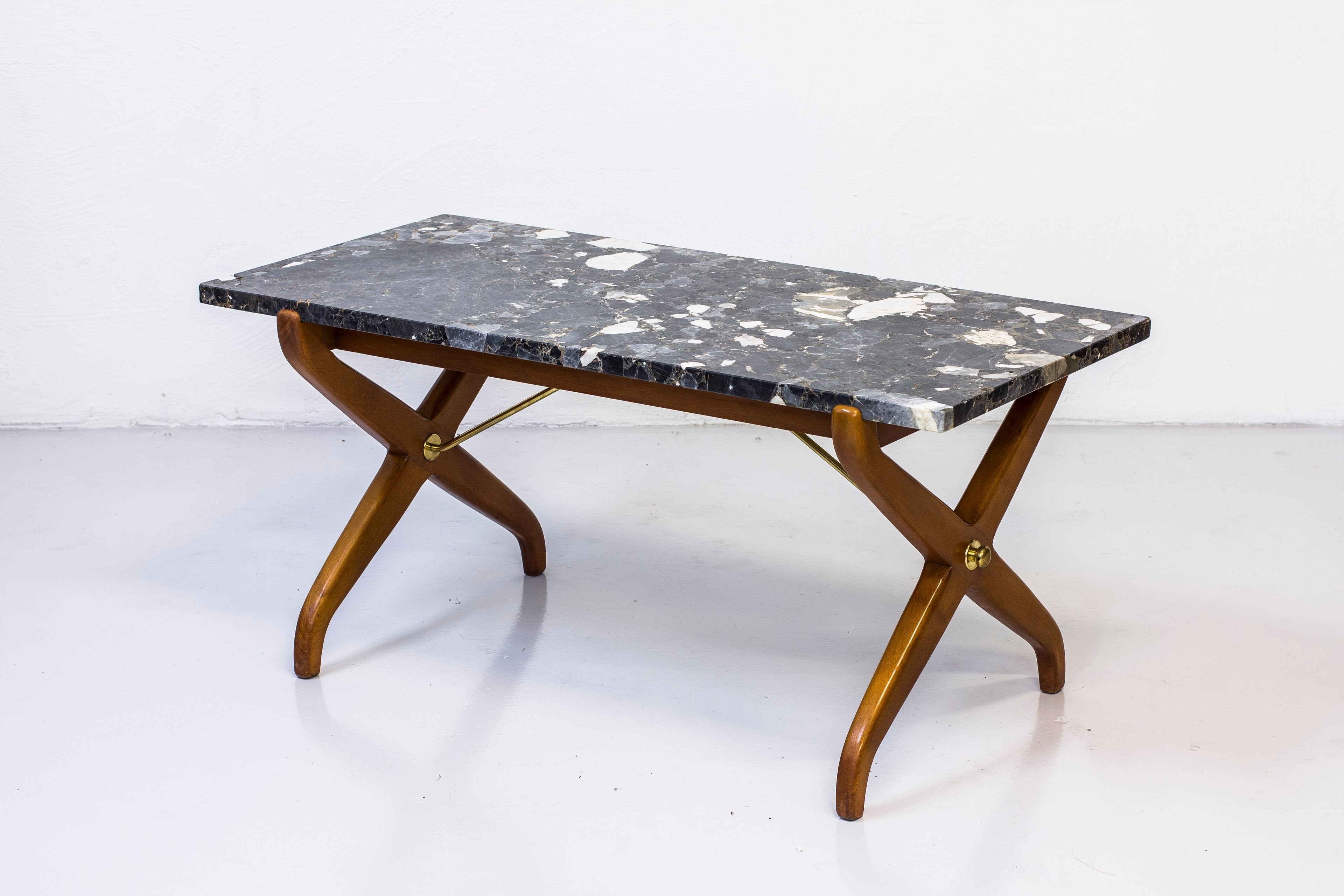 1940s Marble sofa table by David Rosén