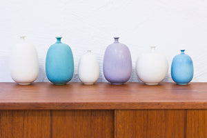 Set of stoneware vases by Inger Persson