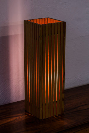 Rare pine table lamp by Uno & Östen Kristiansson