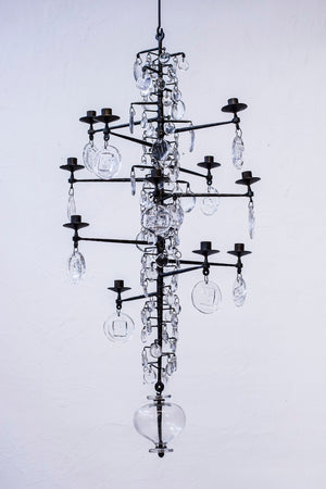 Twelve armed chandelier by Erik Höglund