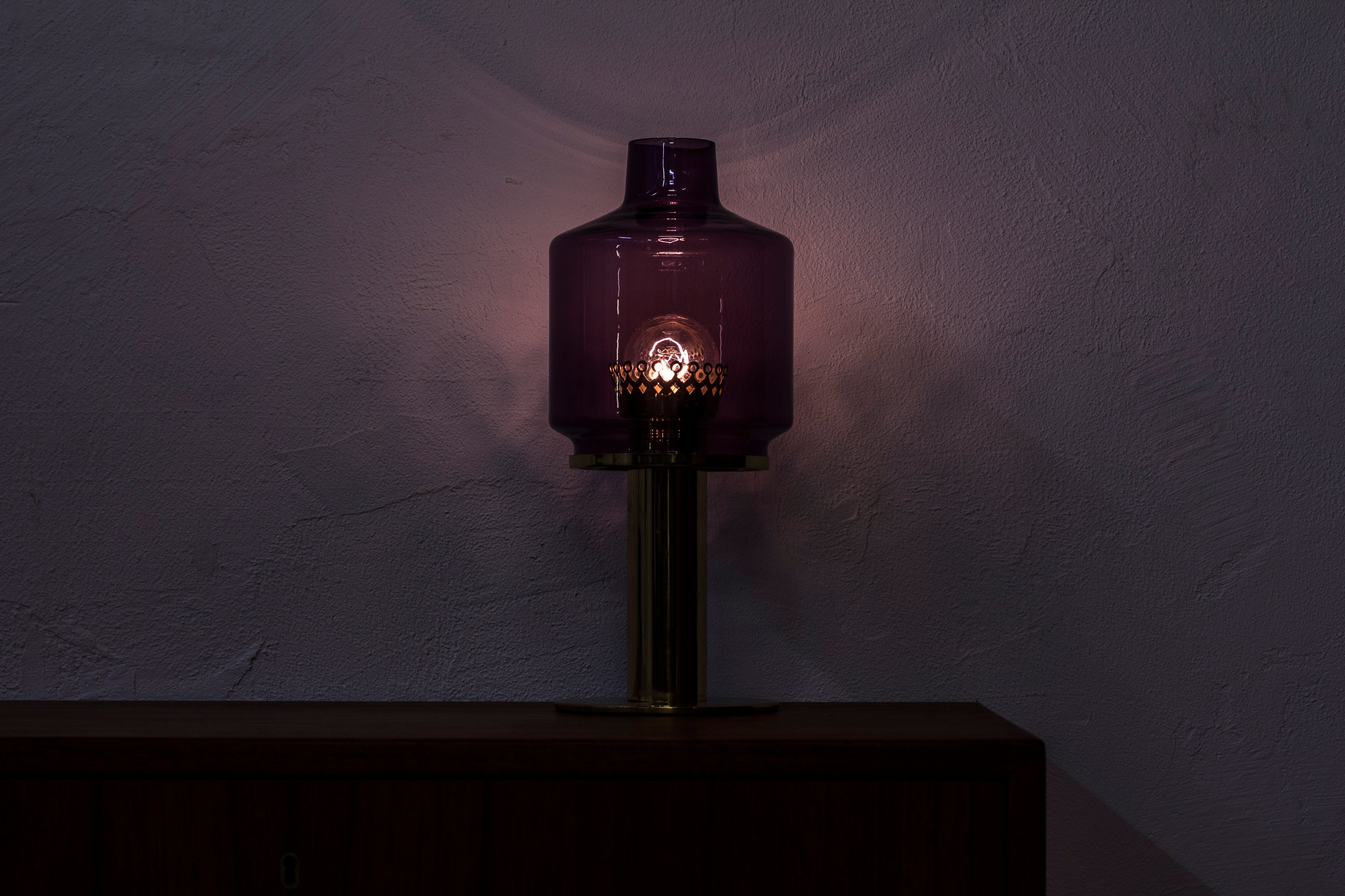 Brass table lamp by Hans Agne Jakobsson