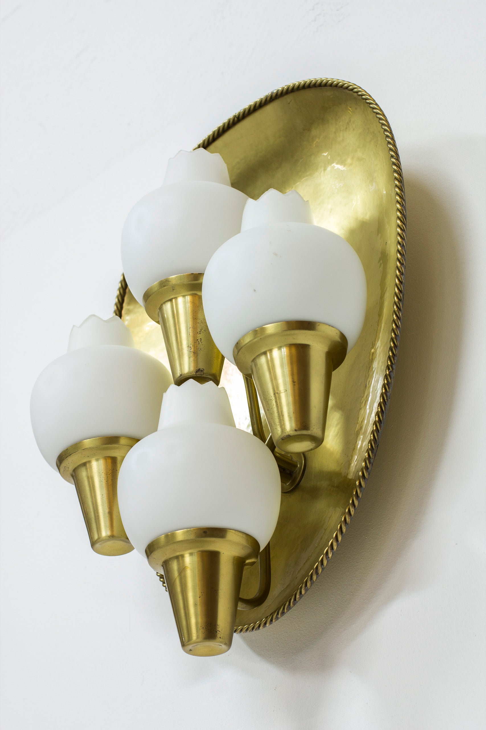 Rare wall lamps by Hans Bergström