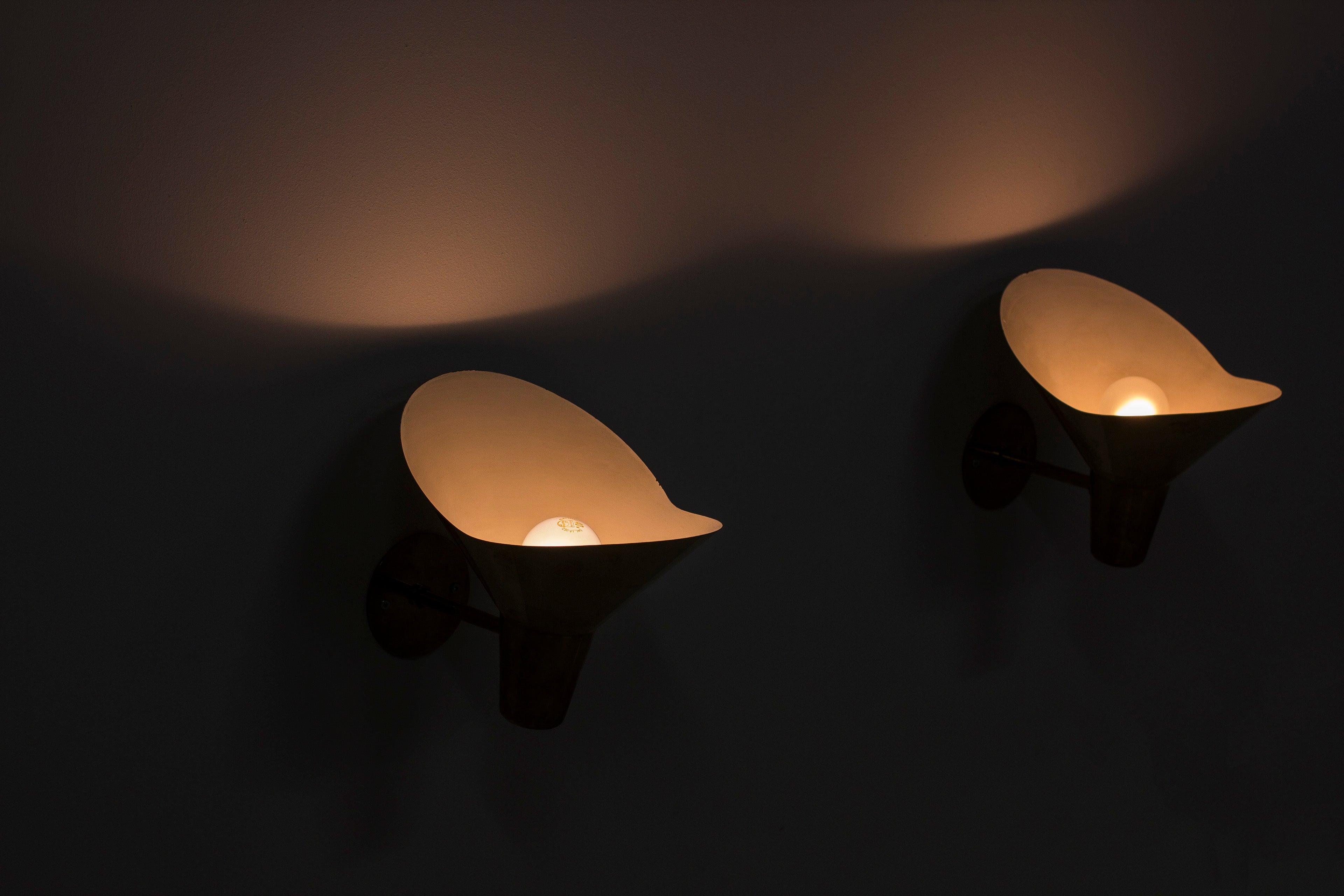 Wall lamps by Hans Bergström for Lyktan