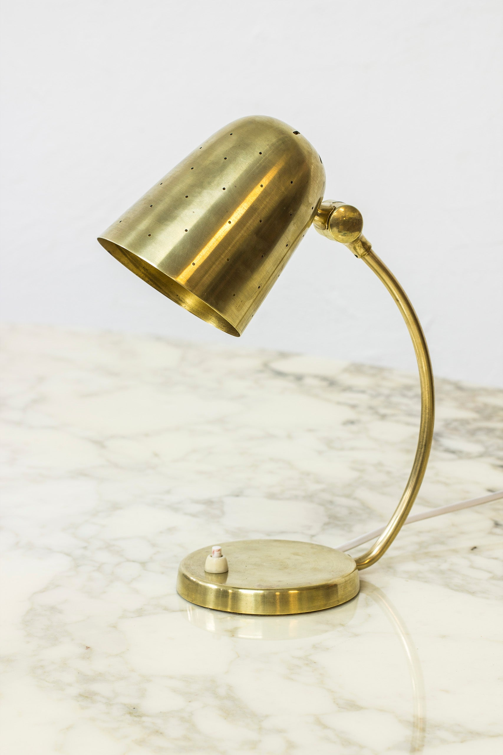Brass table lamp by Boréns