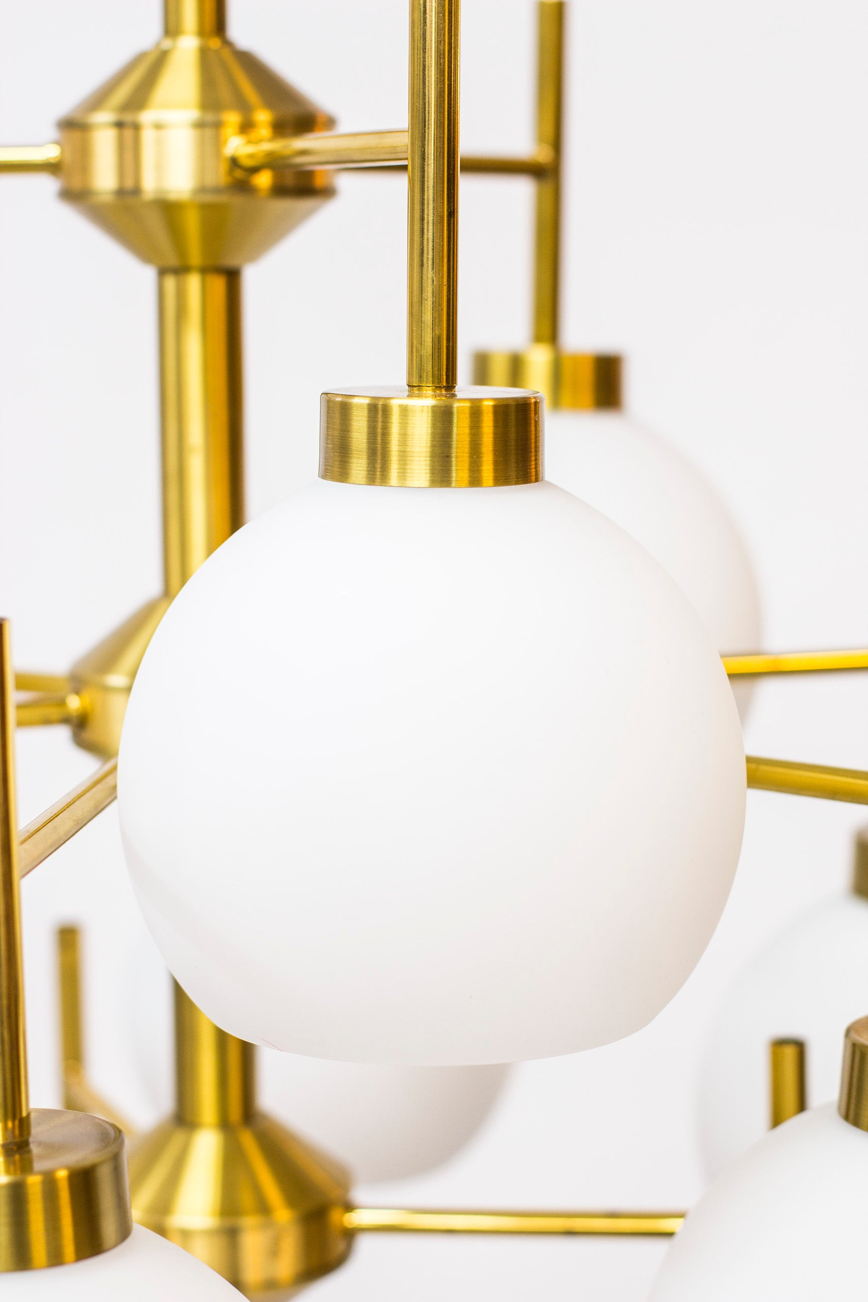 Brass chandeliers by Holger Johansson for Westal no.2