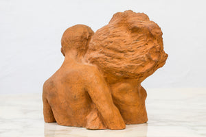 Terracotta sculpture by David Wretling