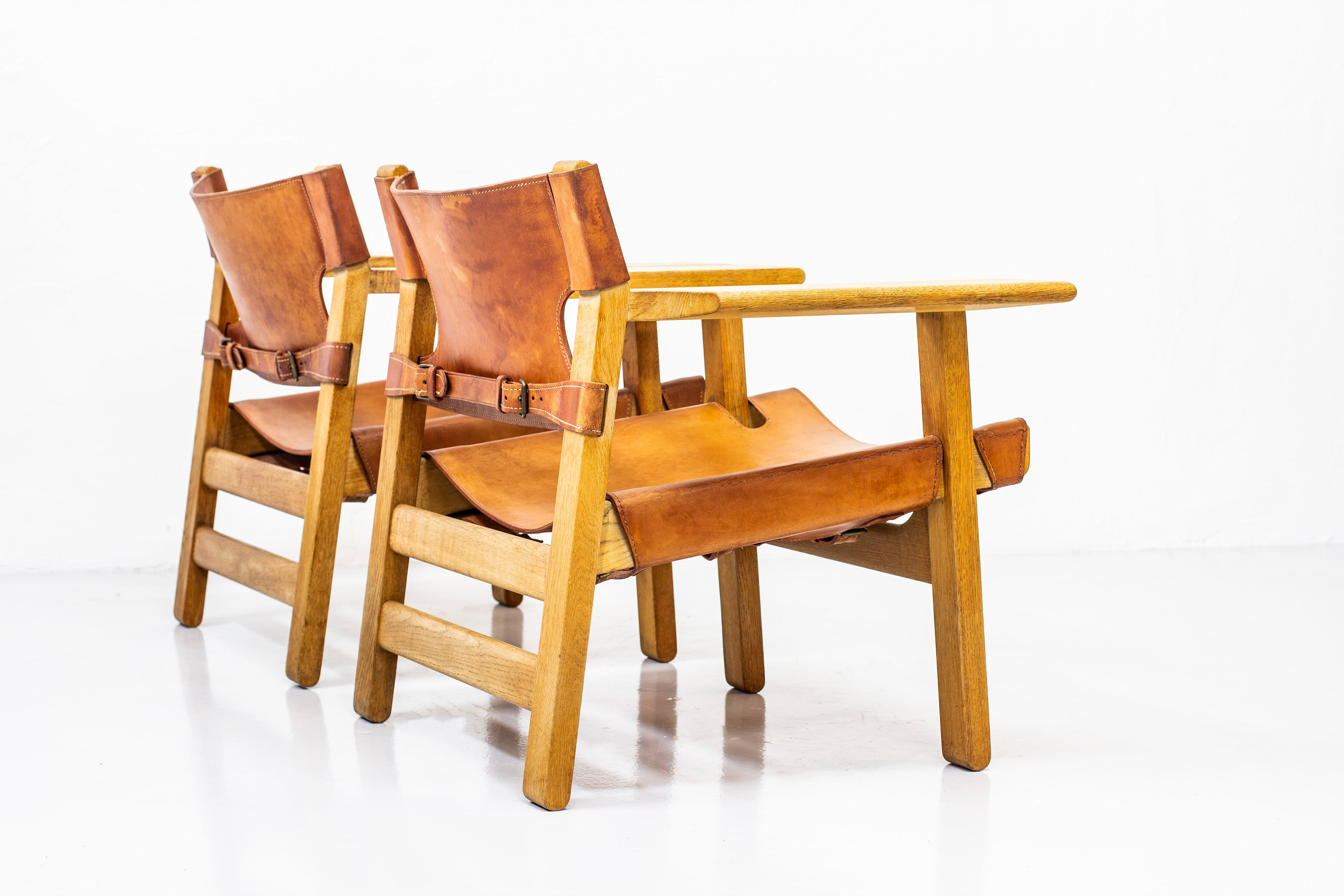 "Pair of ""Spanish chairs by Børge Mogensen"