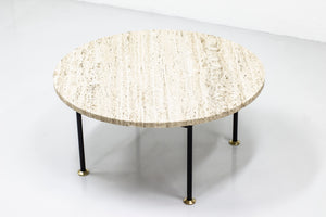 Travertine sofa table from the 1960s