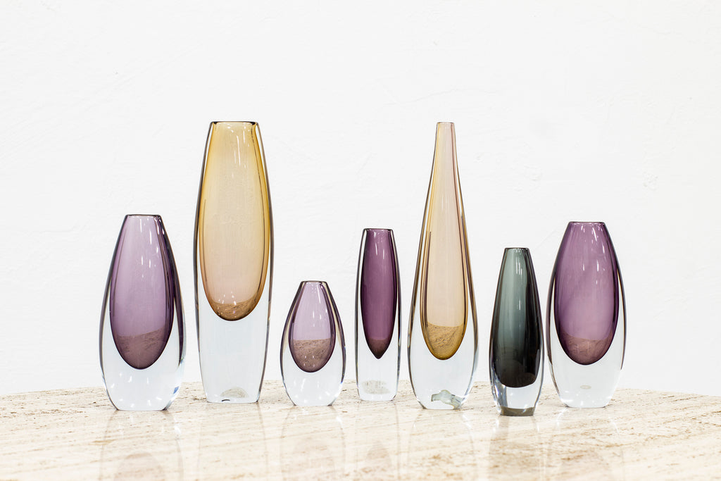 "Set of ""Sommerso"" vases by Gunnar Nylund"