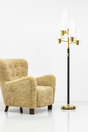 Rare floor lamp by Hans Bergström