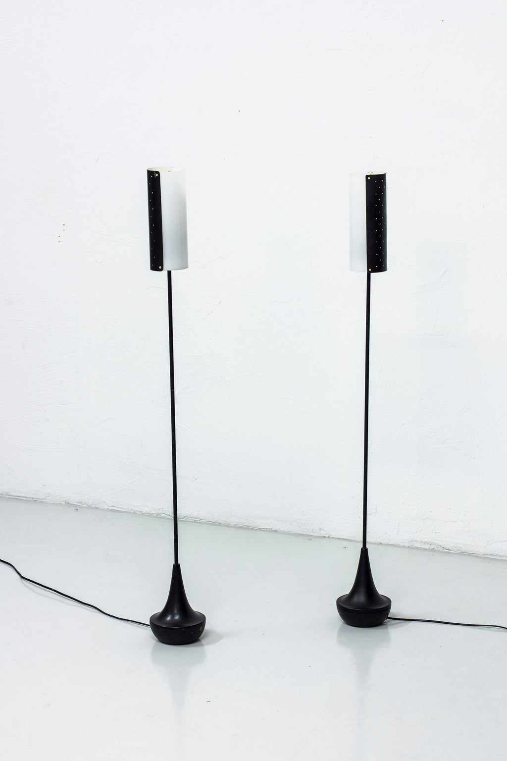 Pair of floor lamps by Stilarmatur