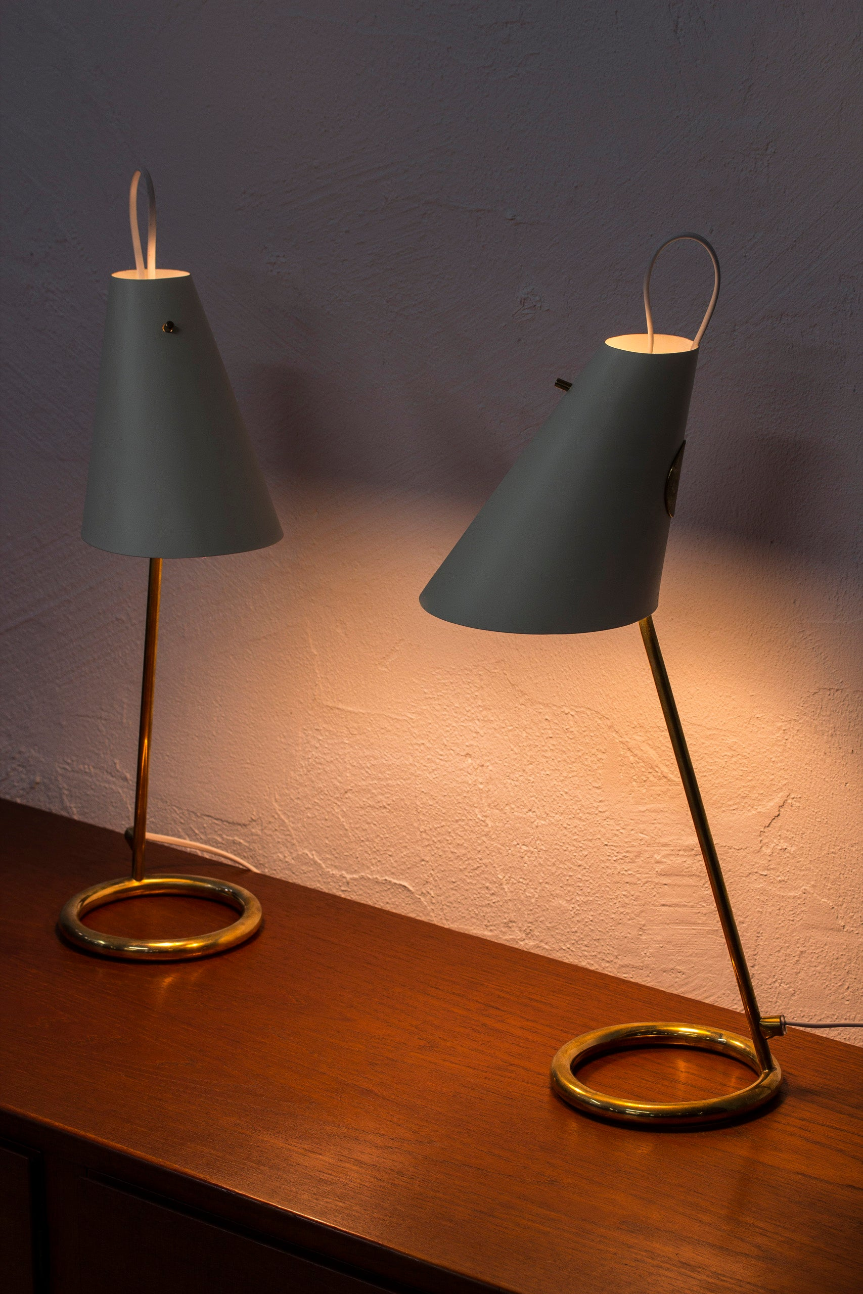 """B 90"" table lamps by Hans Agne Jakobsson"