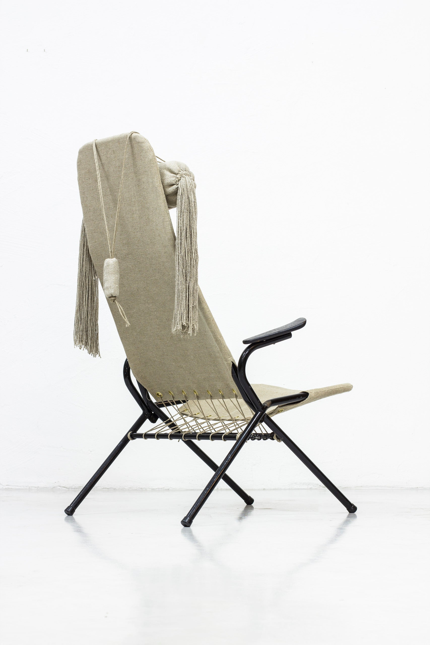 Rare high back chair by Olle Pira