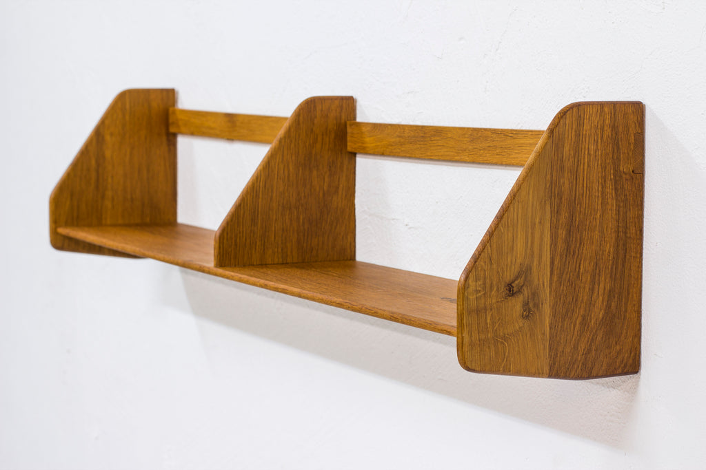 Oak wall shelf by Hans J. Wegner