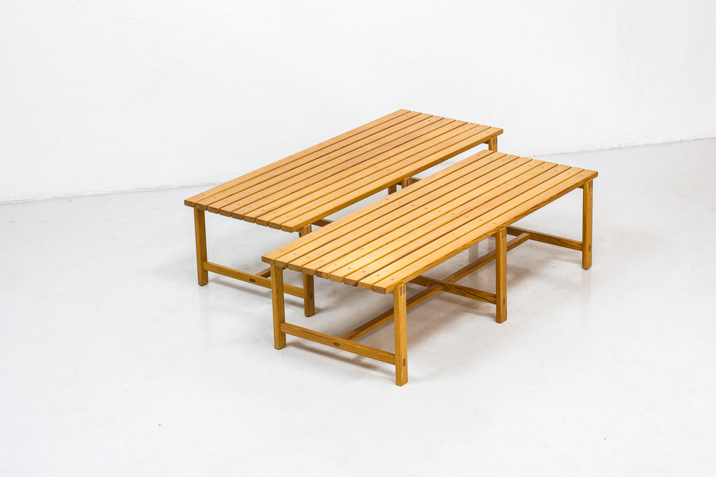 Swedish pine benches from the 1960s