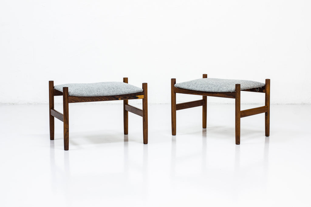 Pair of stools by Hugo Frandsen