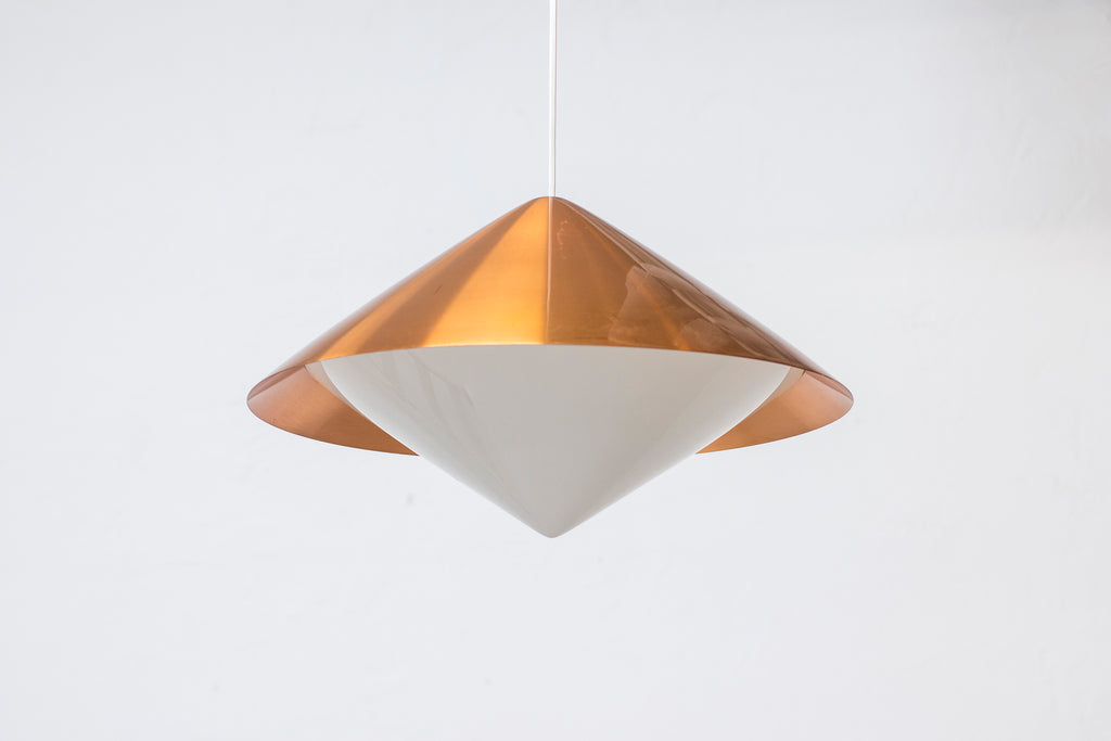 Copper ceiling lamp by Svea Winkler for Orno