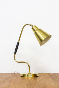 Swedish 1950s brass table lamp by Bergboms
