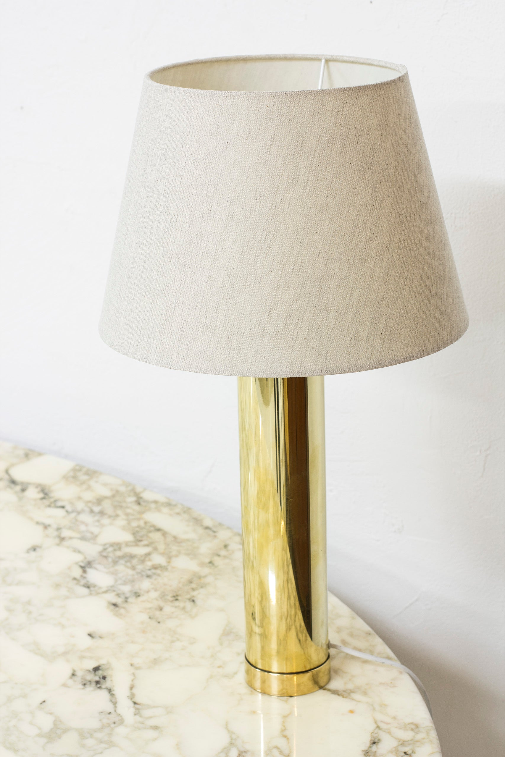 1960s Brass table lamp by Bergboms