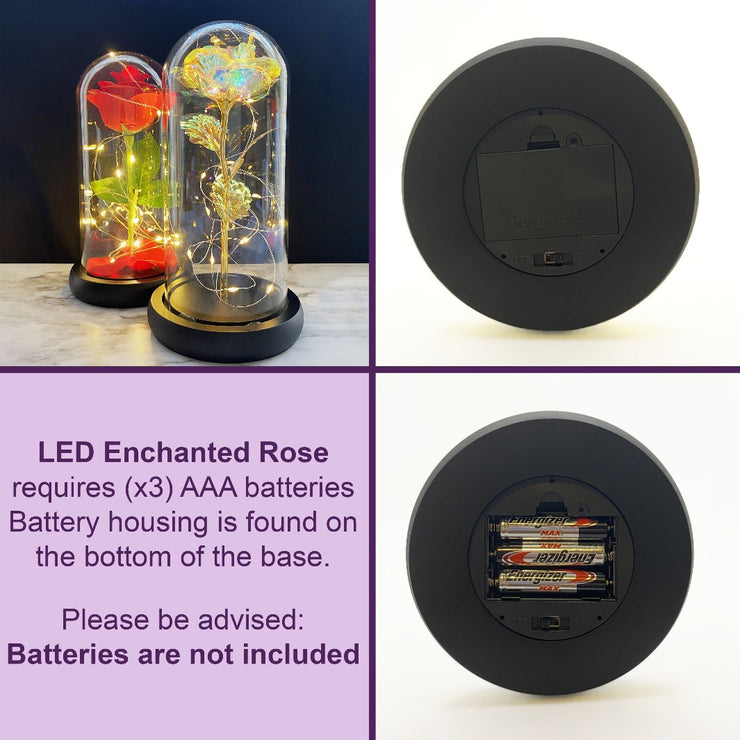 Galaxy Rose Co LED Enchanted Rose Disney Beauty and the Beast eternal rose in glass dome Valentine&