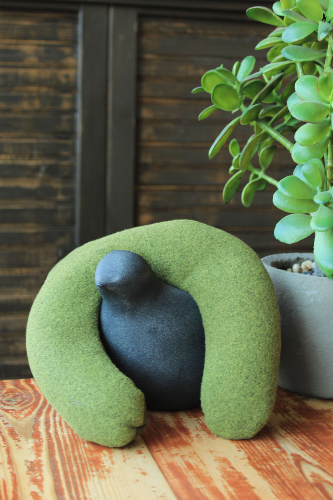 Tara Spa Therapy Neck Pillow in Green OIive color