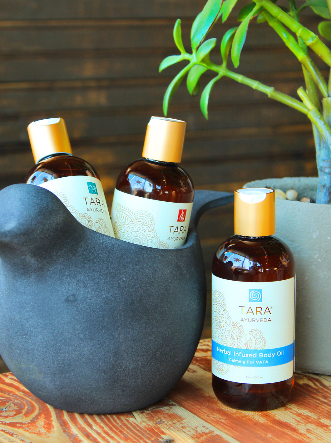 Tara Spa Ayurvedic Herbal-Infused Body Oil - 8oz in a variety of scents: Kapha, Pitta, Vata, etc.