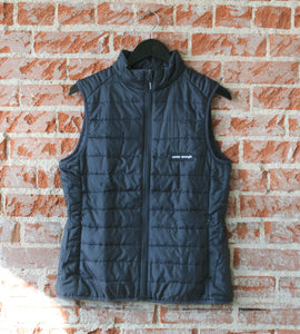 Carbon Colored Centered + Strong Ladies Puffer Vest