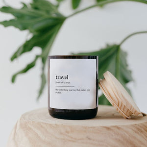 Dictionary Candle - Travel
