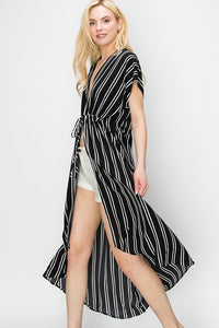 Striped Cover Up Dress