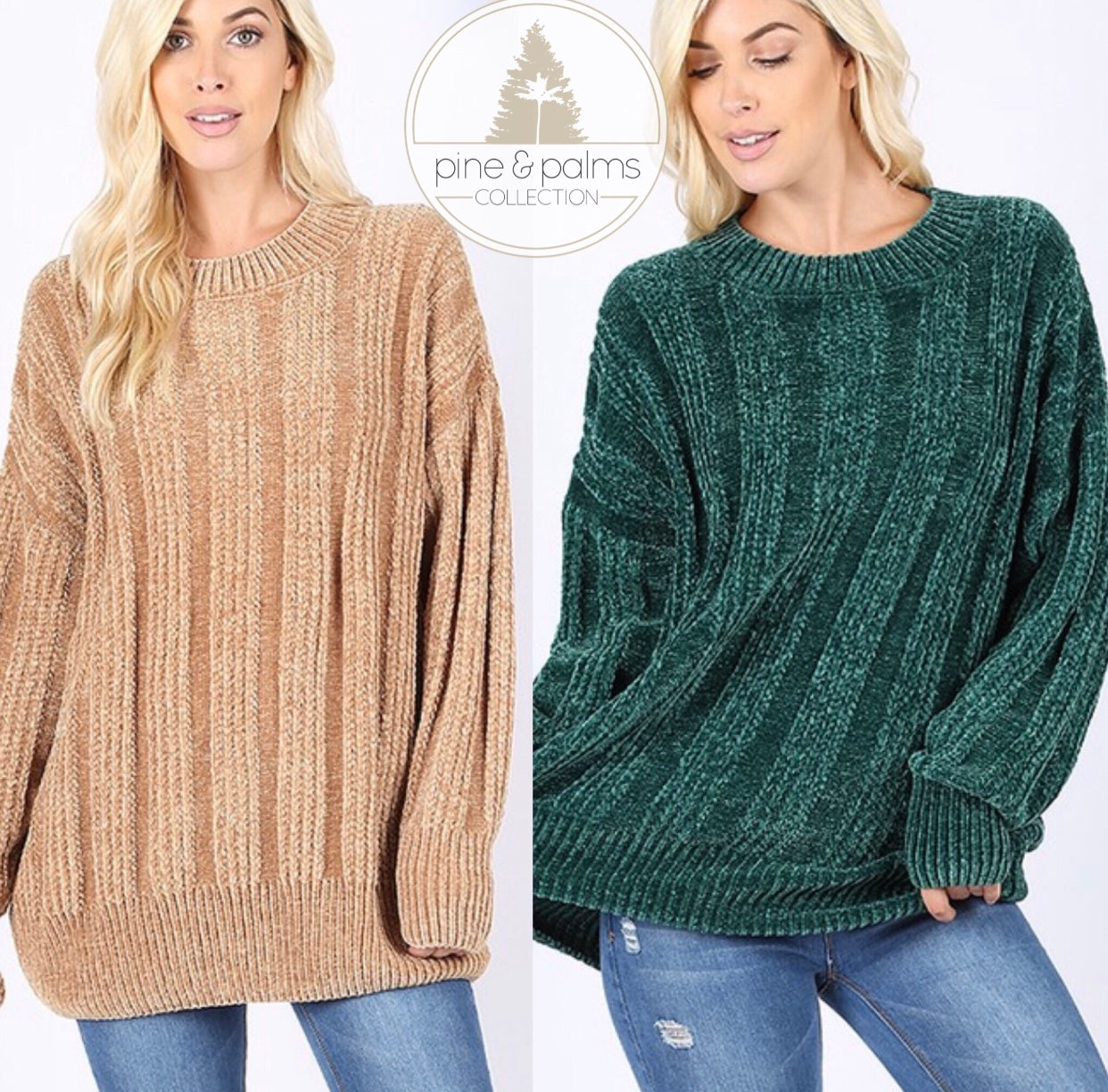 Oversized Cable Knit Chenille Sweater