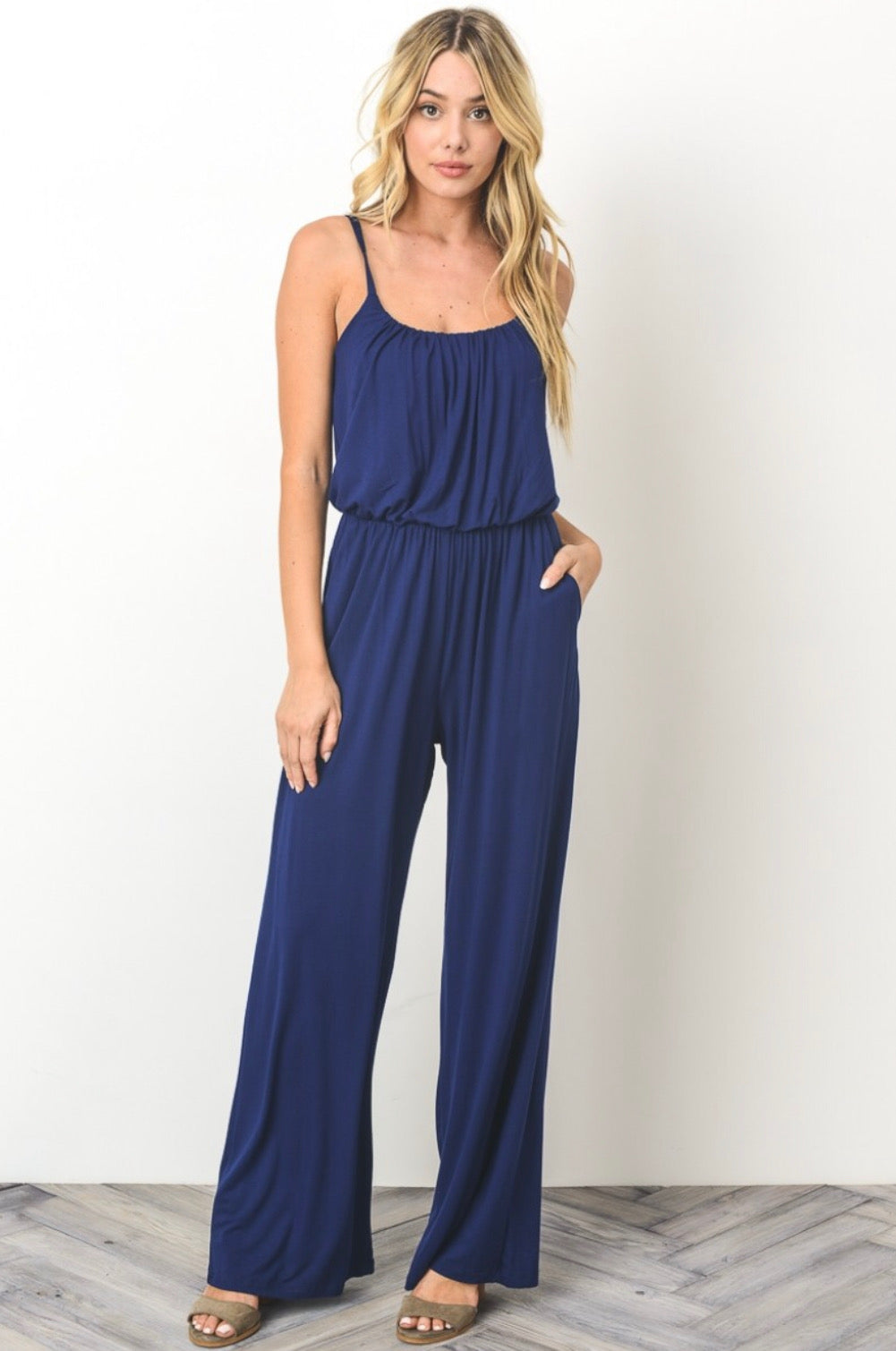 Casual Wide Leg Jumpsuit