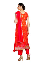 Geet Bandhani Print Straight Cut Suit