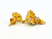 22ct Gold Mina Jhumki Earrings - Roop Darshan