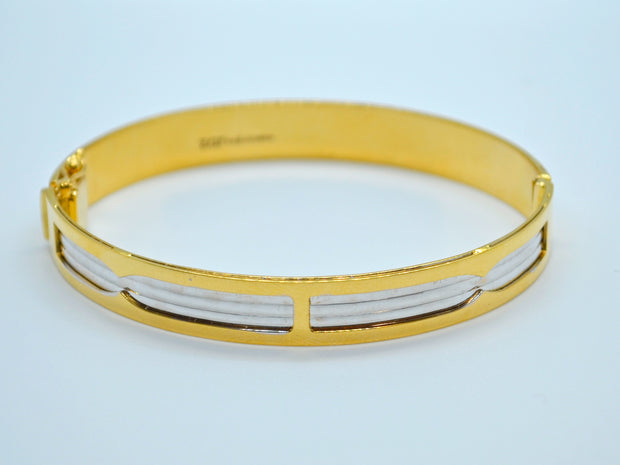 22ct Gold Two Tone 1 Piece Bangle