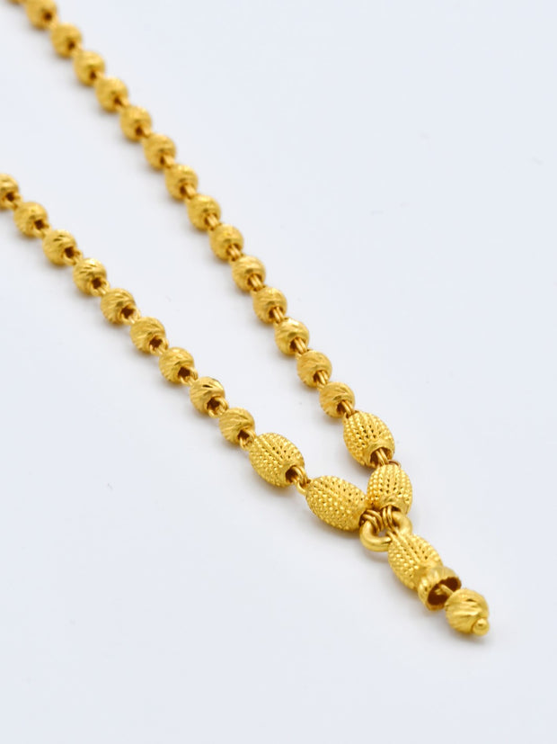 22ct Gold Fancy Hanging Ball Chain