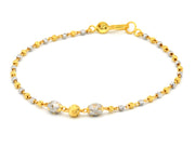 22ct Gold Two Tone Laser Cut Ladies Bracelet