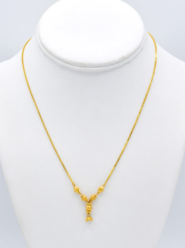 22ct Gold Fancy Hanging Ball Box Chain