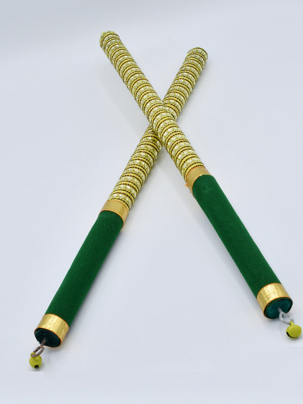 Green Garba Wooden Dandiya