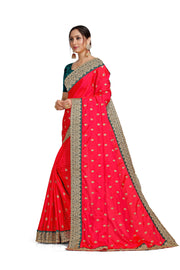 Leeza Silk Hot Pink Saree