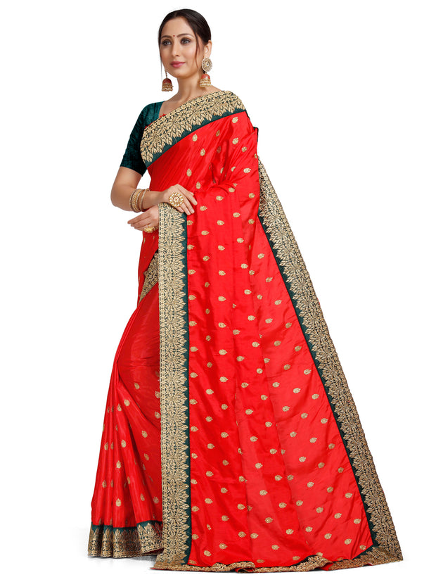 Leeza Silk Red Saree