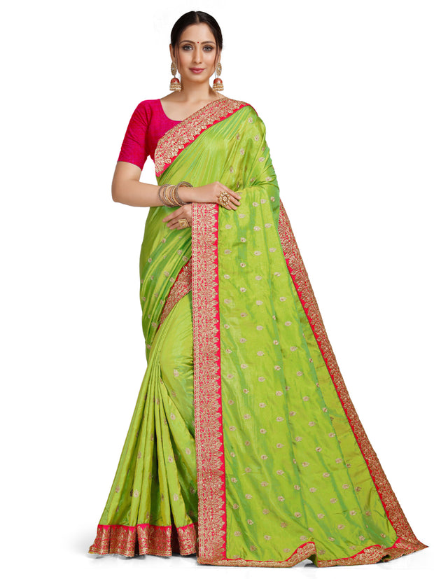 Leeza Silk Lime Green Saree
