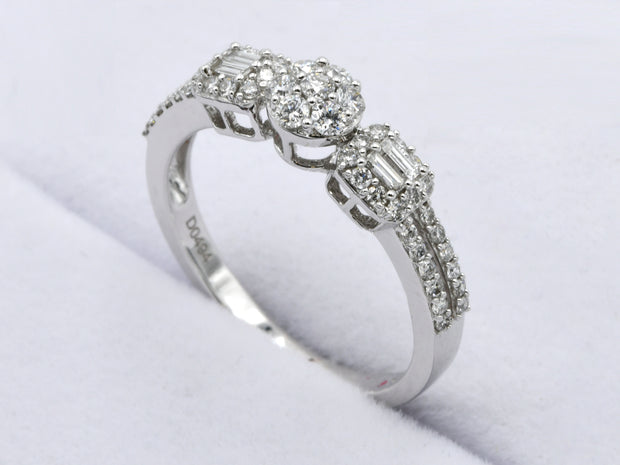 18ct White Gold 0.494ct Diamond Ring