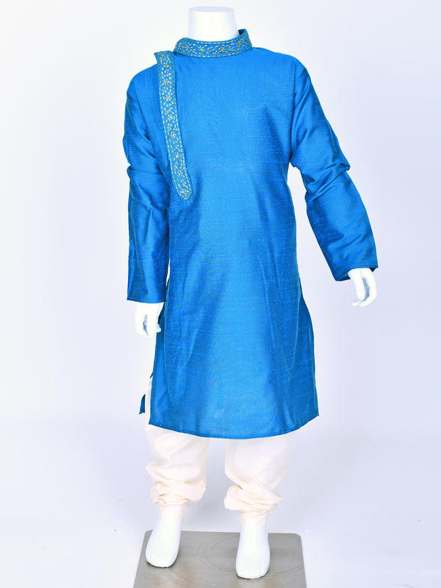 Blue Embroidered Kurta Pyjama