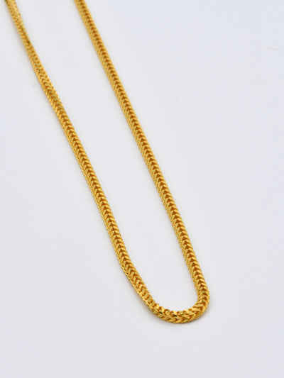22ct Gold Fox Tail Solid Chain