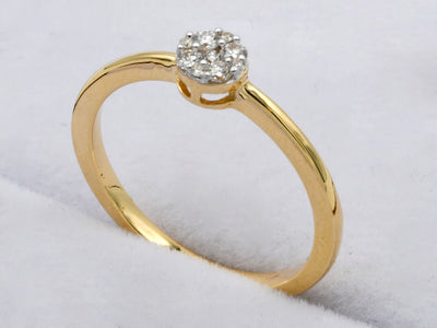 18ct Gold 0.126ct Cluster Diamond Ring