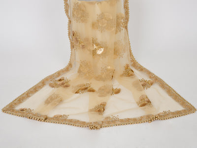 Gold Netting Embroidered Dupatta
