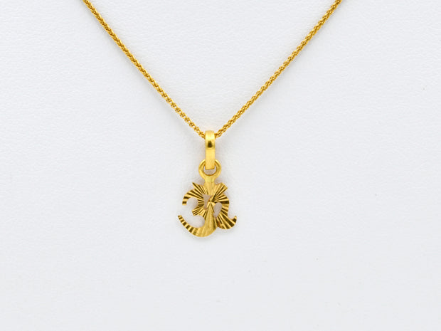 22ct Gold OM Pendant