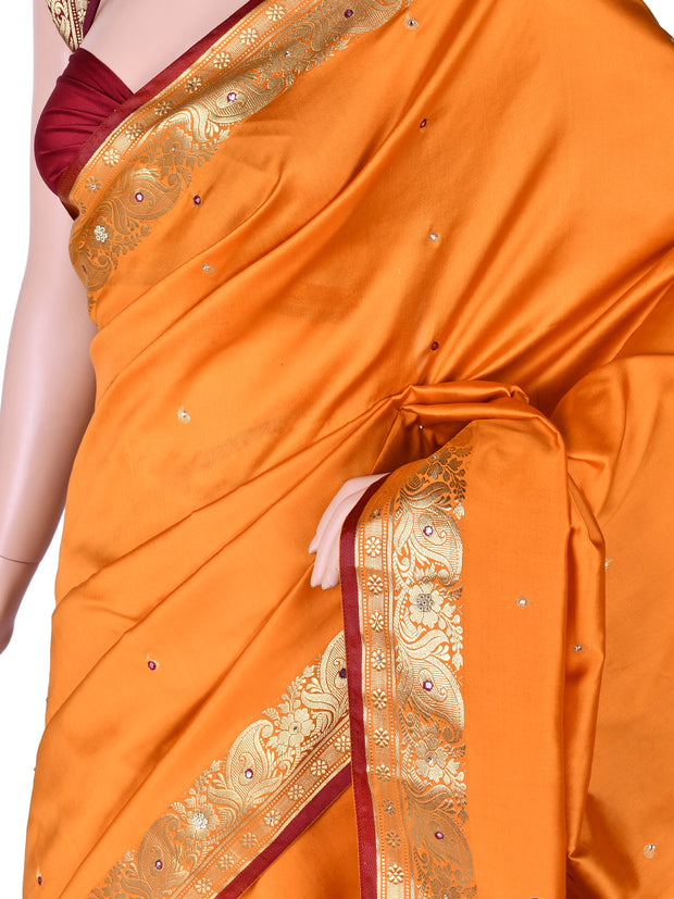 Art Silk Saree In Mustard