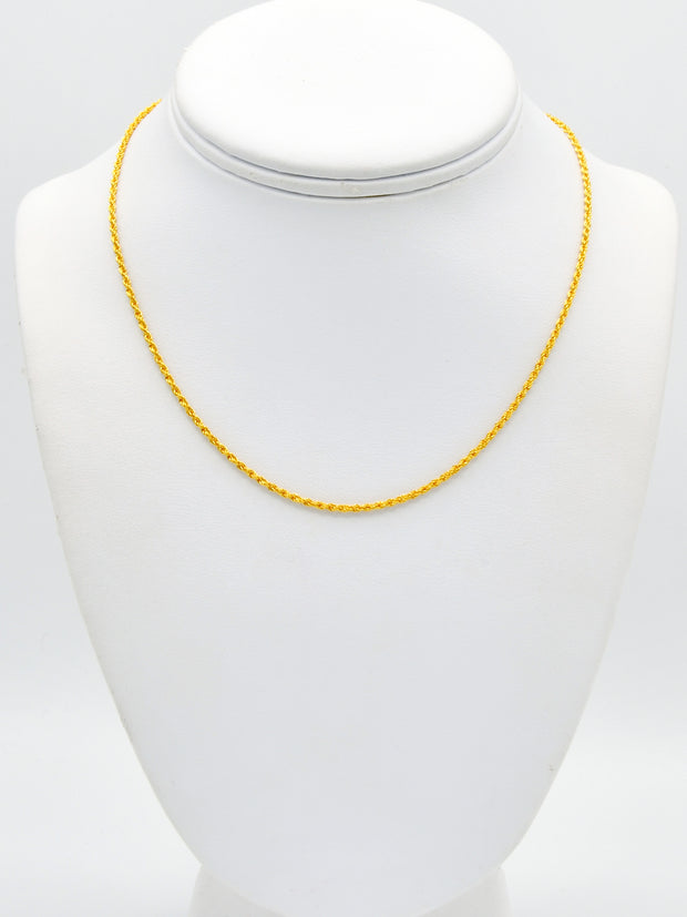 22ct Gold Hollow Rope Chain
